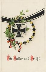 Patriotic postcard World War I (Feldpost 14) Tags: vintage postcard wwi ironcross patriotic worldwari 1wk postkarte eiserneskreuz eiserneskreuz1914 ek1914 ironcross1914 frkaiserundreich