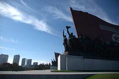Mansu Hill (Frhtau) Tags: city people building history statue asian design high construction memorial asia leute centre hill capital north style korea east korean pyongyang dprk nordkorea mansu