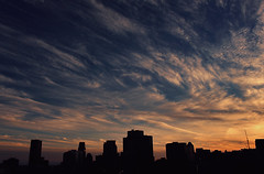New beginning (aquigabo!) Tags: montreal city town skyline clouds silhouette dusk sunset blue orange sky buildings twilight canon eos dsrl rebel aquigabo t5i 700d 18mm nightfall light shadows contrast life composition