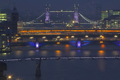 Ponti / Bridges (Blackfriars, London, United Kingdom) (AndreaPucci) Tags: london uk towerbridge bridge millenniumbridge southwark cannonstreet railway thames nigth andreapucci canoneos60