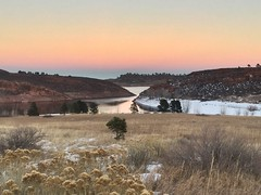 Peace and tranquility (Inside & Out Photography) Tags: winter nature tranquility peace snow mountain rock sunset sky water horsetooth reservoir colorado coloradolake