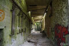 Couloir de béton