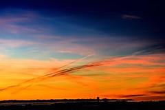 sunset colored sky... (Inga P.) Tags: horizon nature beautiful color dramatic evening sunset