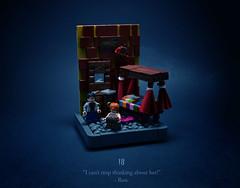 18 - Birthday Surprises (Melan-E) Tags: harry potter half blood prince dormitory hogwarts boys dormroom gryffindor school bed quidditch ron weasley magical journey