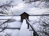 Kleines Bootshaus (blichb) Tags: 2017 ammersee bayern bootshaus deutschland eis fünfseenland iphone7 inning iphoneography stegen blichb schnee winter inningamammersee de platinumheartaward