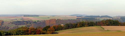 Herbstlandschaft an der Nahe zwischen Bad Sobernheim und Staudernheim