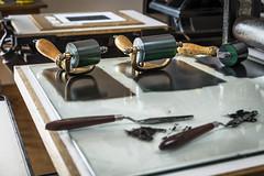 Inking (TrotterFechan) Tags: print rollers ink press linocut screenprint