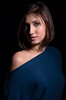 Vincenza (luca.onnis) Tags: ritratto lucaonnis photography portrait portraiture lookingcamera studioshot bluedress