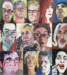 December JKPP (Gila Mosaics n'stuff) Tags: acrylic picmonkey portrait compilation jkpp portraitparty onwood gilamosaics