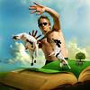 Quiet you two! (jaci XIII) Tags: cão cachorro cabrito homem pessoa campo livro dog kid man person field book