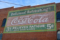 Coca-Cola Ghost Sign, Cape Girardeau, MO (Robby Virus) Tags: capegirardeau missouri mo cocacola coke ghost sign signage faded forgotten delicious refreshing relieves fatigue brick wall ad advertisement