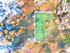 rockpools (Evan_Williams) Tags: curlcurl beach northernbeaches sydney aerial dji mavicpro dronestagram quadcopter fpv nature djiglobal dronephotography aerialphotography aerialphoto rockpool swimmers laps rockpools