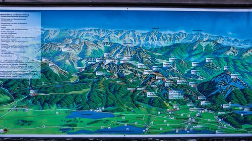 Panoramakarte Schwangau, Bavaria, Germany