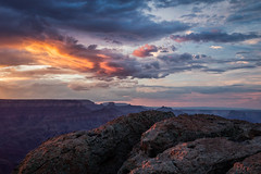 Catch the Glow (Kirk Lougheed) Tags: arizona grandcanyon grandcanyonnationalpark lipanpoint southrim usa unitedstates canyon cloud evening landscape nationalpark outdoor rim sky summer sunset