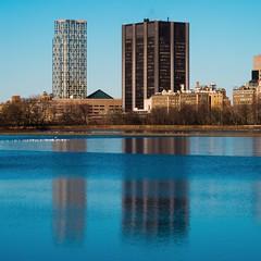 New York Architecture #316 (Ximo Michavila) Tags: newyork architecture archidose archdaily archiref lake water ximomichavila centralpark nyc usa city cityscape sunset warm sky day clear building reflection horizon blue urban