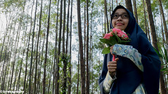 Into the Woods (FuzzyEyez) Tags: lady girl beauty beautiful fashion model female pretty eyes face cute light outdoors woods forest foliage innocent trees asian young smile attractive muslim hijab sunlight green ipoh malaysia fujilm