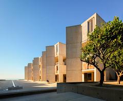 salk institute orange grove (Chimay Bleue) Tags: salk institute fountain orange grove architecture la jolla san diego sandiego design concrete brutalist brutalism
