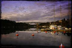 The bridge... (Papa Razzi1) Tags: 8610 2017 021365 thebridge skuru sea water marina january winter nikond7200 twilight sweden calm still