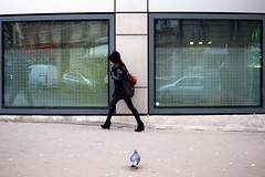 Pigeon 10-2017 ( serie walkers ) (Kairos !) Tags: walker walk walking walkers urban city street streetwalk streetview streetphotography streetphotographer pigeon fujifilm fujixt10 reflet reflection