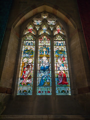 Stained Glass Window (Howie Mudge LRPS) Tags: stmichaelschurch stainedglasswindow window art religion religious arch archway stone stonework inside indoors interior structure archtiecture fineart lowlight aberystwyth ceredigion wales cymru uk travel travelling traveler panasonic lumix microfourthirds micro43 micro43mountlenses mft m43