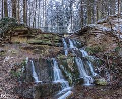 Grüner See-4310-Pano.jpg (Darklight-Photo) Tags: wasserfall winter panorama grünersee langzeitbelichtung eis rödinghausen deutschland