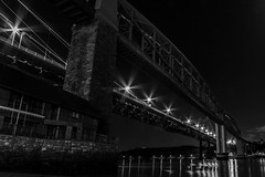 Royal Albert Bridge (Marklucylockett) Tags: plymouth cornwall devon february 2017 marklucylockett royalalbertbridge tamarbridge saltash rivertamar a38 blackandwhite