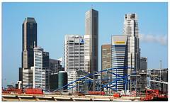 Beginning of Helix Bridge - 0186 (willfire) Tags: willfire singapore construction helix bridge cbd shenton marina bay maybank
