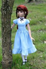 IMG_7462 (natalia_belle_epoque) Tags: blue amber spring doll dress handmade alice redhead clothes aliceinwonderland tonner ellowynewilde wildeimagination belleepoqueoutfits