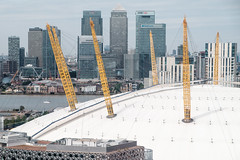 O2 and Canary Wharf (Hkan Dahlstrm) Tags: london architecture photography europe unitedkingdom britain great creative o2 commons millenium millennium arena cc wharf dome gb docklands cropped canary a102 2015 greaterlondon f64 storbritannien xe2 sek xf1855mmf284rlmois 28213082015111450