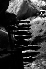Out of the Cave (EmmaRoganPhotography) Tags: blackandwhite bw stairs rocks stones steps caves