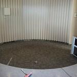 Carpet behind the front desk