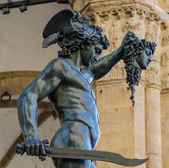 Perseus statue (mijaensch) Tags: statue florence august tuscany medusa perseus beheaded 2015 gekpft