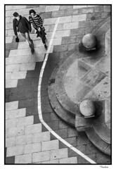 BITI052015_217R_FLK (Valentin Andres) Tags: espaa blackwhite spain view bilbao walker vista bizkaia vizcaya basquecountry paisvasco zenital paseante cenital