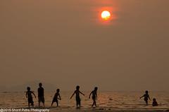 Children (Sharif Putra) Tags: sunset sea sun water asian asia seascapes borneo sabah putatan