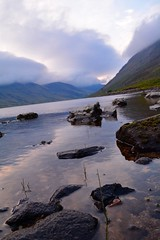 Scotland Hiking 2015 (olythompson) Tags: light summer mountains reflection nature water scotland ben hiking pebbles valley loch munro chonzie kinlochard