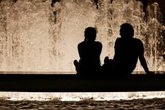 Romance @ The Lincoln Center (aleadam) Tags: newyorkcity summer newyork fountain silhouette couple manhattan romance metropolitan lincolncenter metropolitanopera cotcmostfavorited 3000v120f aleadam alejandroadam