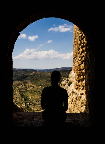Admiring the View in Morella