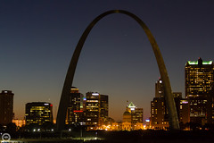 The Arch at 50 (Explored 29 Oct 2015 #325) (Mike Matney Photography) Tags: sunset night canon illinois october midwest arch stlouis missouri gatewayarch mississippiriver stl 2015 eos7d