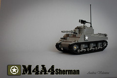 Sherman (kr1minal) Tags: usa army us tank lego nazi wwii fury panzer moc brickmania