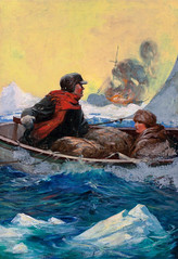 Surviving by Edgar F. Wittmack (Tom Simpson) Tags: ocean illustration vintage painting shipwreck surviving edgarfwittmack