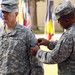 Brig. Gen. Jon A. Jensen receives USARAF/SETAF patch