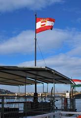 Austro-Hungarian naval ensign on board of SMS Leitha (MPeti) Tags: nikon war hungary great budapest monitor ww1 danube kuk warship d60 2015 leitha lajta austrohungariannavy imperialandroyalnavy danubefleet