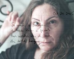 293.365 (sadandbeautiful (Sarah)) Tags: woman selfportrait me composite female writing self 365 layered day293 365days 365daysx6