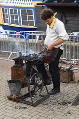 The Blacksmith (EJ Images) Tags: uk england slr festival metal work fire coast nikon sailing norfolk smith coastal metalwork d750 blacksmith yarmouth dslr greatyarmouth fayre eastanglia 2015 nikonslr maritimefestival norfolkcoast nikondslr 24120mmlens greatyarmouthquay greatyarmouthmaritimefestival yarmouthmaritimefestival norfolkcoastal ejimages greatyarmouthmaritimefayre nikond750 dsc2480c