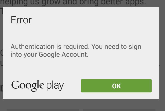 """ដំណោះស្រាយបញ្ហាមិនអាចទាញយកកម្មវិធី ឬហ្គេមពី Play Store """"Google Play authentication is required"""""""