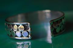 Moroccan Bracelet (glendamaree) Tags: abstract macro silver nikon patterns jewellery morocco bracelet macrophotography moroccon