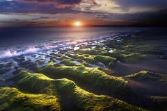 I grandi viaggi incominciano sempre dalla stazione dell'anima... (Salvatore Brontolone) Tags: lungomare puteolano pozzuoli sea sunset onde cloud