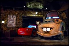 Best Friends (Michael Besant) Tags: radiatorspringsracers disneyland mater speedmcqueen darkride fun california