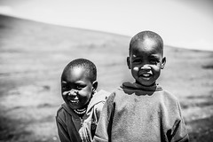 Maasai kids (SebastianJensen) Tags: kid maasai nationalpark ngorongoro tanzania safari exploration traveling portrait africa bw