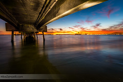 Belmont Pier (Michael Zampelli) Tags: belmontmemorialpier longbeach coast dtimeexposure dusk mamorial pier sunset